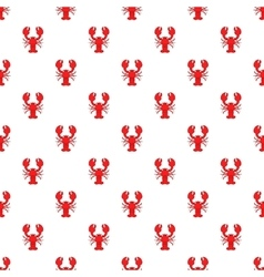Lobster pattern cartoon style vector