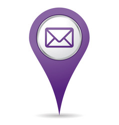 location mail icon vector image