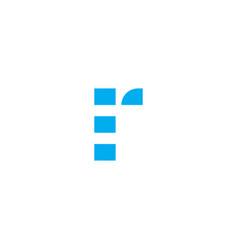 logo letter r blue stripes vector image