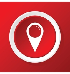 Map pointer icon on red vector