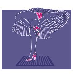 Marilyn Monroe legs style vector