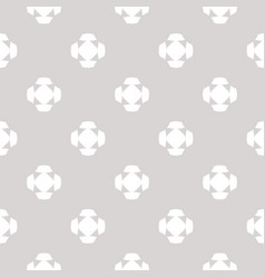 Minimalist pattern with crosses floral shapes vector