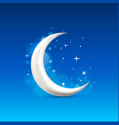 moon sign icon vector image