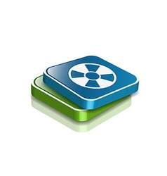 Nuclear web icon vector