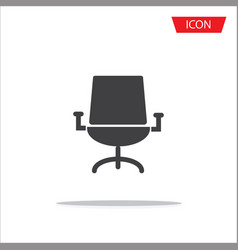 office chair icon isolated on white background vector image
