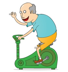 Old man exercising vector image vector image