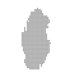 pixel map of qatar dotted map of qatar isolated vector image