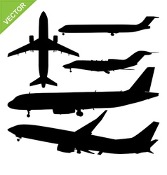 Plane silhouette vector image