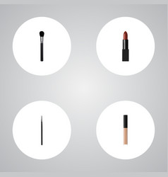 Realistic cover beauty accessory cosmetic stick vector