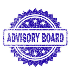 Scratched advisory board stamp seal vector