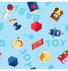 Seamless texture of toys vector