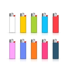 Set of colorful lighters Template for corporate vector