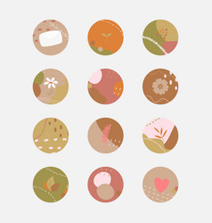 Set various round abstract backgrounds vector