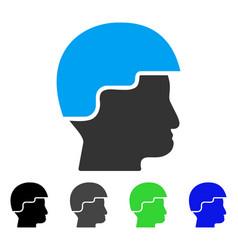 Soldier helmet flat icon vector