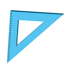 Square ruler school tool education vector