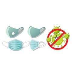stop virus wearing mask vector image