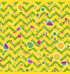 summer fruits seamless pattern vector image