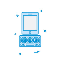tablet icon design vector image
