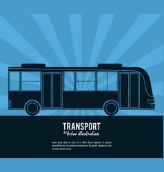 transport bus vehicle design vector image