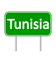 Tunisia road sign vector