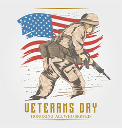 veterans day usa army vector image