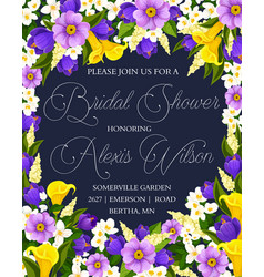 Wedding bridal shower party invitation poster vector