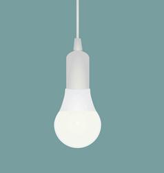 white led bulb vector image