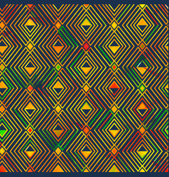 Yellow geometric seamless pattern vector