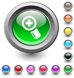 Add round button vector image vector image