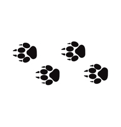 Animal foot prints and tracks isolated steps vector image vector image