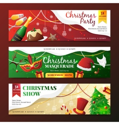Christmas Party Invitation Banners vector image