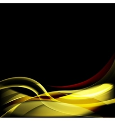 Dark Design Template with Smooth Waves vector image vector image