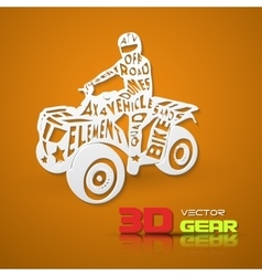 Flat lettering ATV vector image