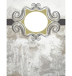 grunge background with decorative labels vector image vector image