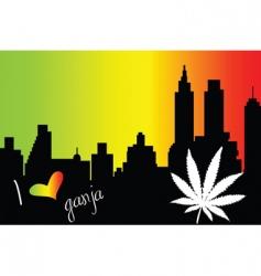 I love Ganja city vector image