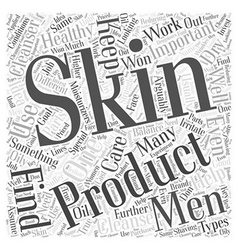 men skin care Word Cloud Concept vector image vector image