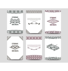 Native american style borders cards vector image