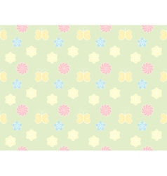 pattern with flowers and butterflies vector image vector image