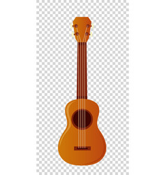 wooden ukulele with four strings vector image