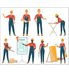 Architect and construction builders workers Civil vector image