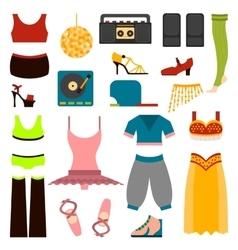 design dance clothes vector image