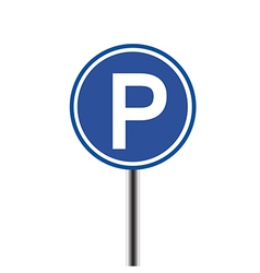 Parking sign on white background vector image vector image