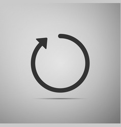refresh icon isolated on grey background vector image