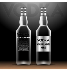 vodka bottles mockup with your label here vector image vector image