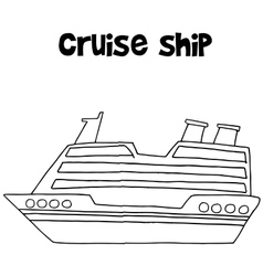 Cruise ship of transportation collection vector image vector image