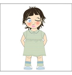 Cute young girl vector image vector image