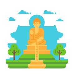 flat design tian tan buddha vector image vector image