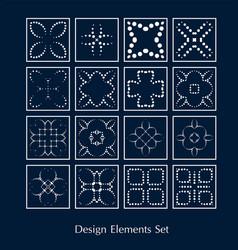 logo elements set design sign vector image vector image