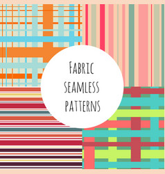 set of seamless colorful patterns for textile vector image