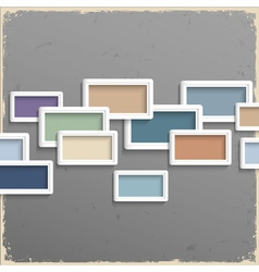 3d frames on grunge background vector image vector image